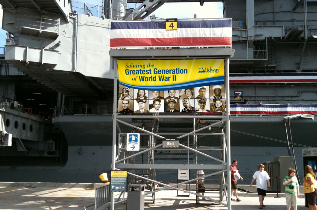 The Greatest Generation Entrance Banner