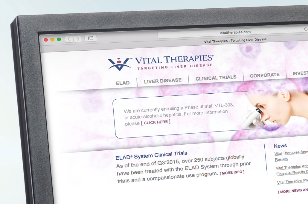 Vital Therapies Site and Video